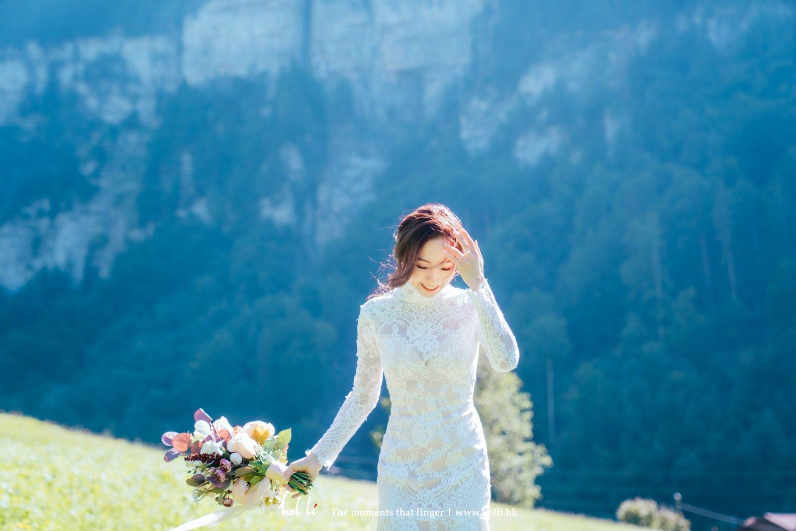雪山配上草地,是各人心中的瑞士吧