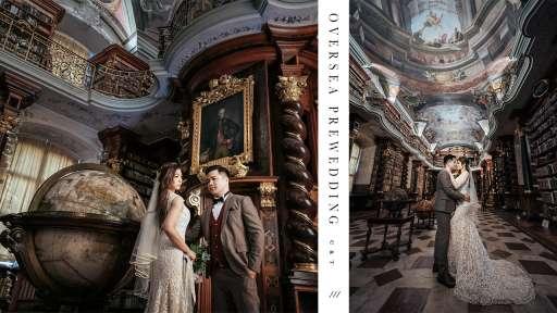 【世界最美的圖書館】  Prague Pre-wedding   布拉格婚紗攝影