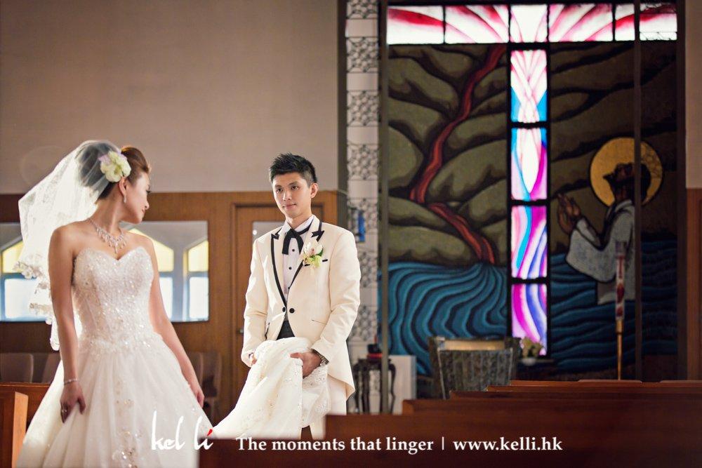 A bride with a groom