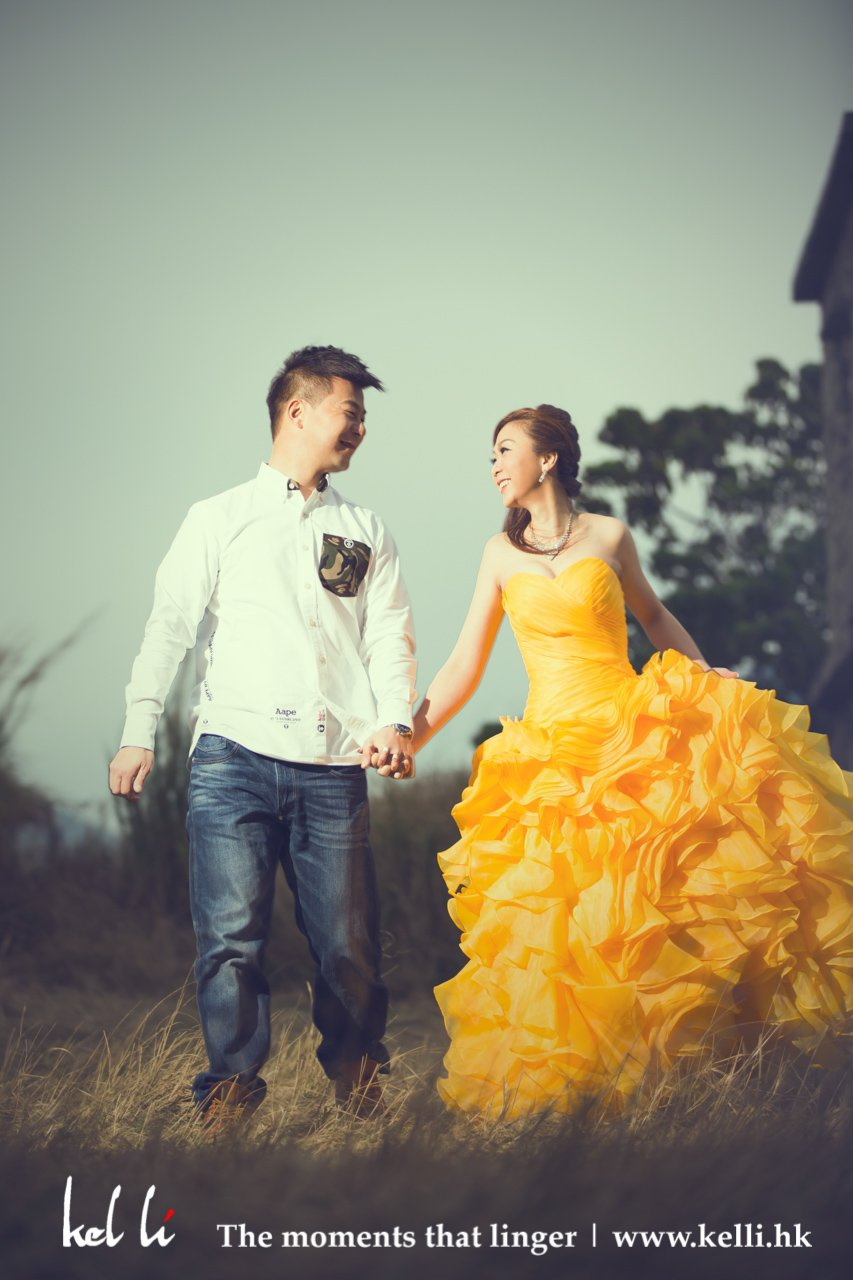 Yellow gown prewedding