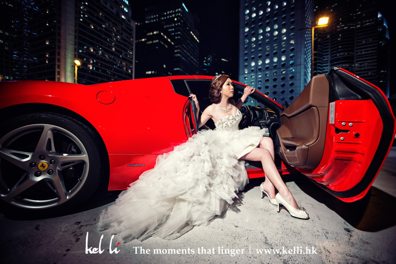 Ferrari prewedding photo
