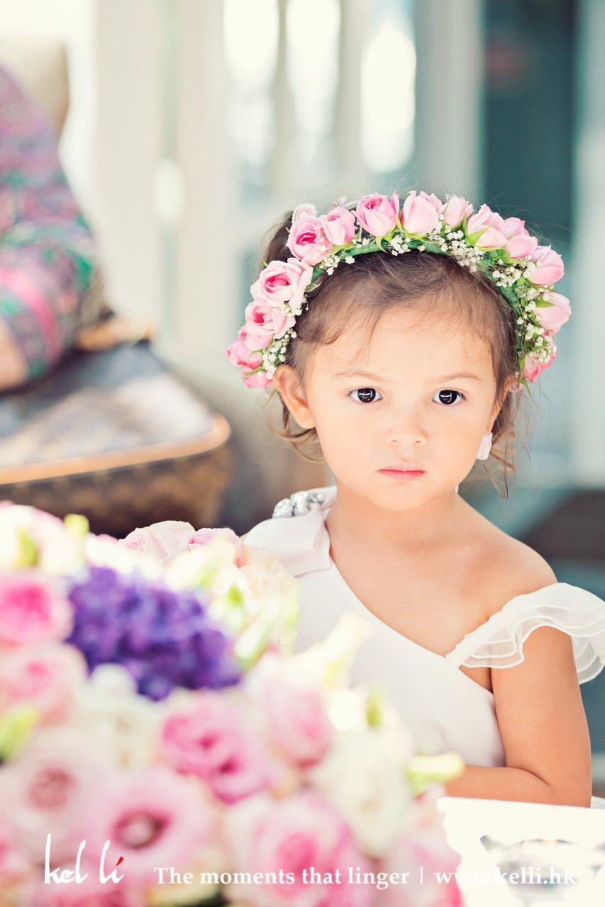 Cute kid in a wedding ceremony
