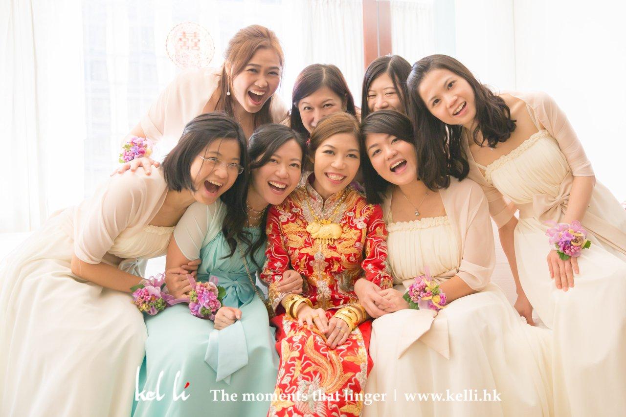 婚禮-新娘與姊妹拍攝