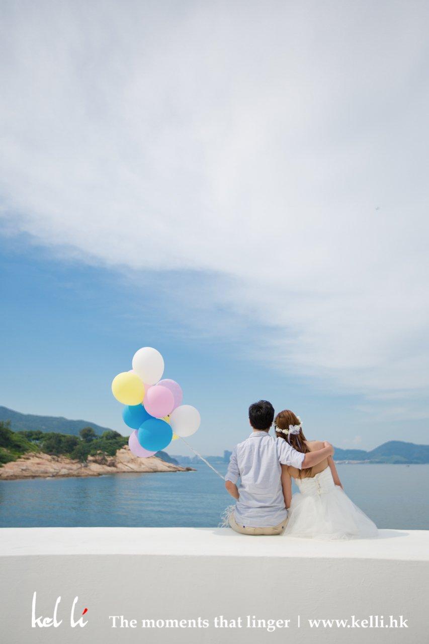 開心自然的婚紗攝影