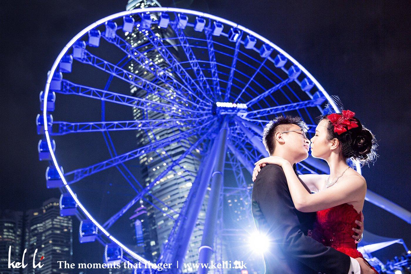 香港在中環的摩天輪,摩天輪下的婚紗照