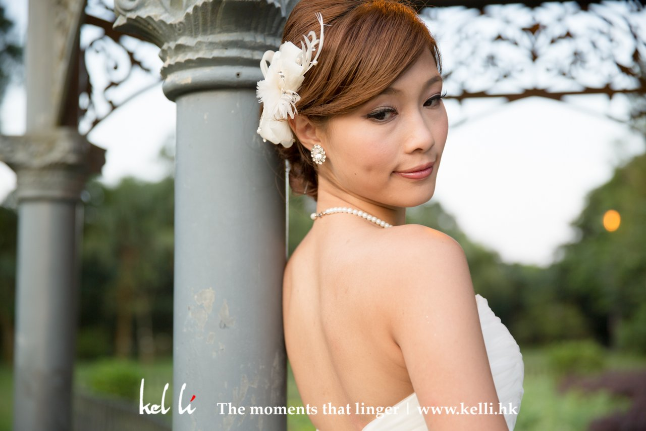 香港山頂公園的婚紗相