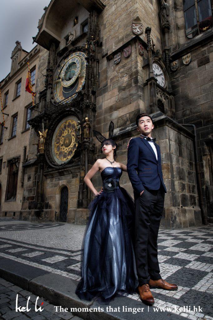 布拉格婚紗攝影, 布拉格影婚紗照,布拉格天文鐘, Astronomical Clock