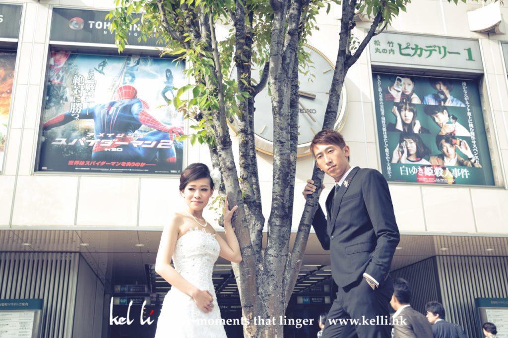 日本街頭影婚紗相, 東京街頭影婚紗相, 東京街頭拍婚紗照