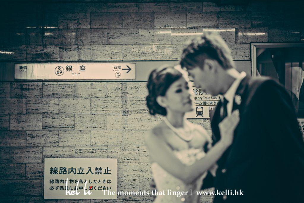 東京地鐵內的婚紗照/婚紗相, 不一樣的東京婚紗照, 東京影婚紗相, 東京婚紗照, 東京婚紗攝影師, Tokyo prewedding, Tokyo Pre-wedding, Tokyo Prewedding Photographer