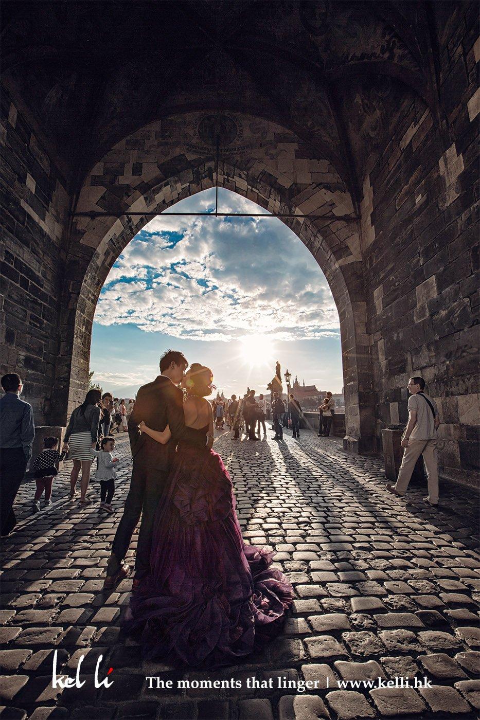 在查理大橋的斜陽   Prewedding in Charles Bridge