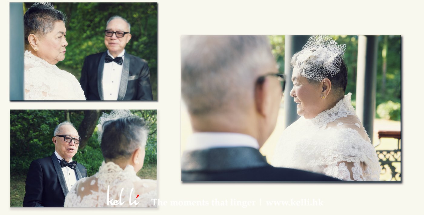 很享愛這輯為長者拍攝的婚紗相