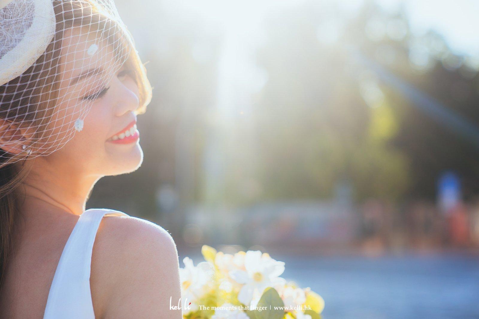 絕美的光線,絕美的新娘子