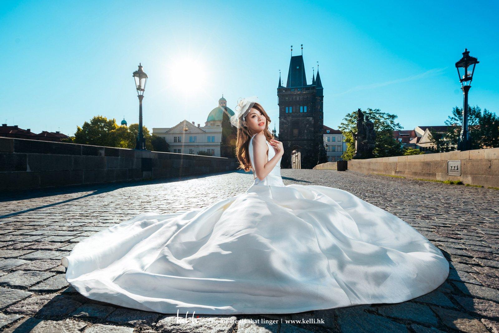 這也是新娘子最喜愛的其中一張婚紗相