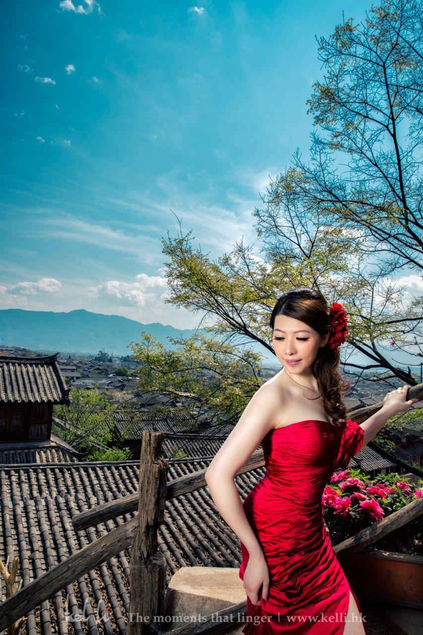 丽江的婚纱照