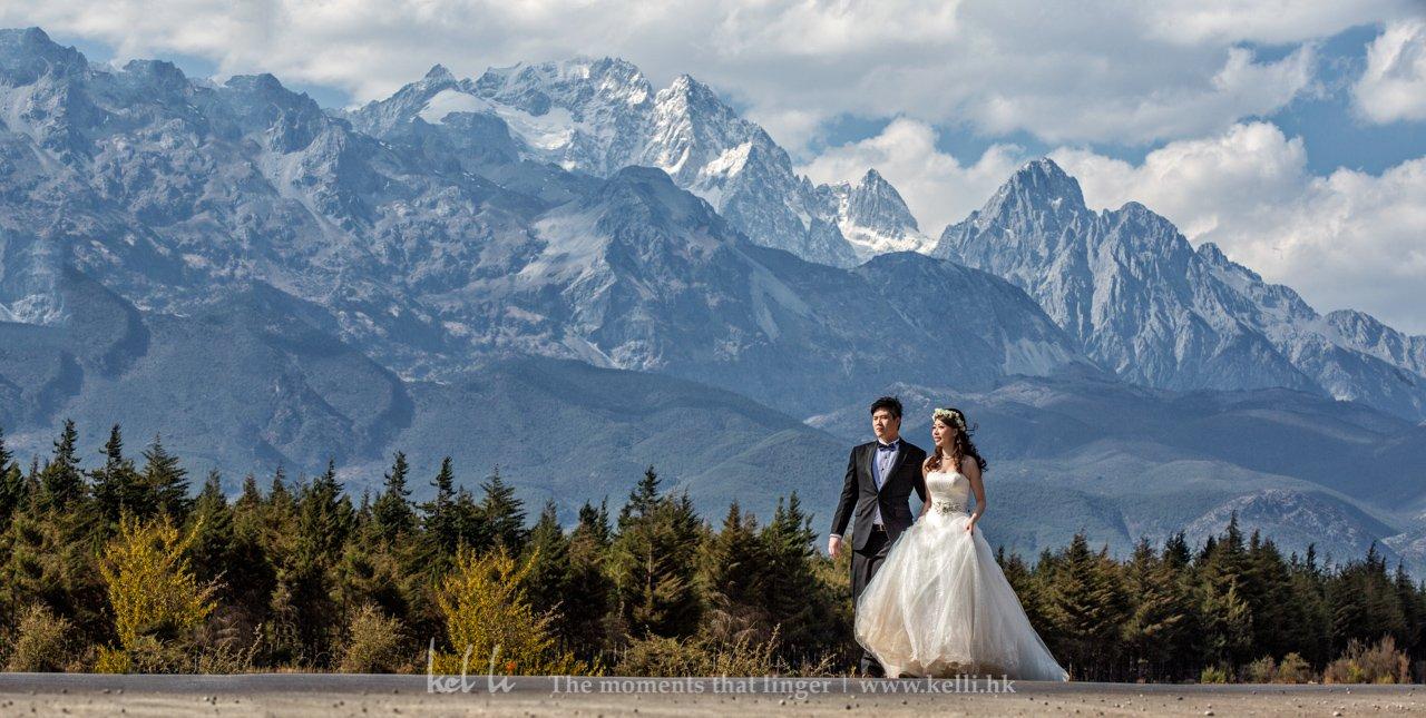 丽江的玉龙雪山,拍出来真的有点像瑞士