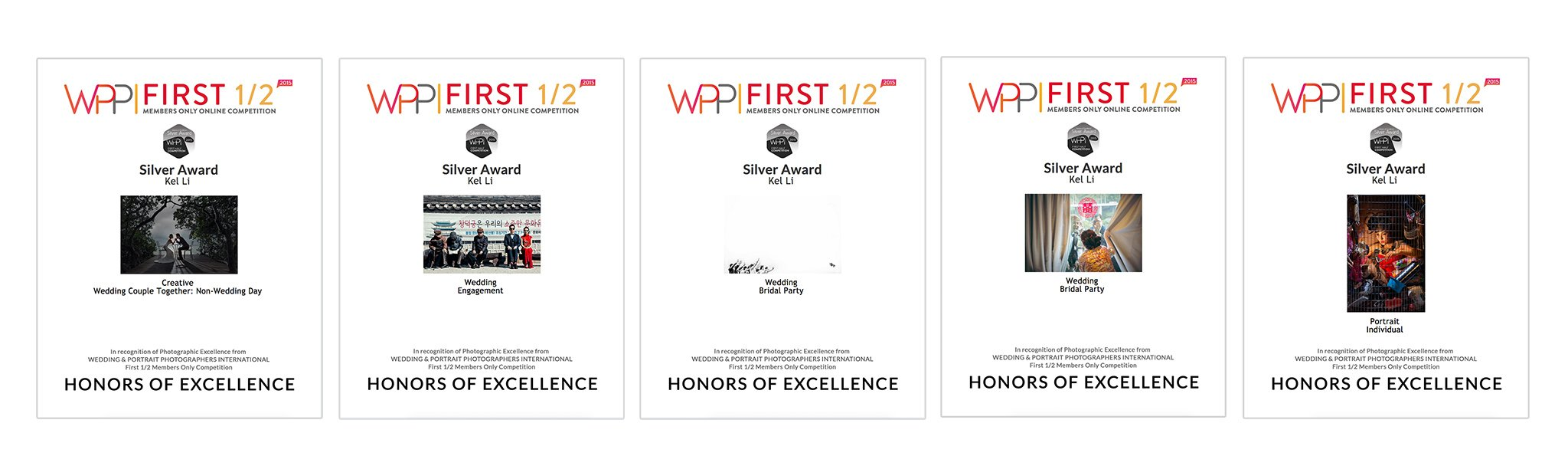 WPPI比賽結果,獲得5個HONORS OF EXCELLENCE