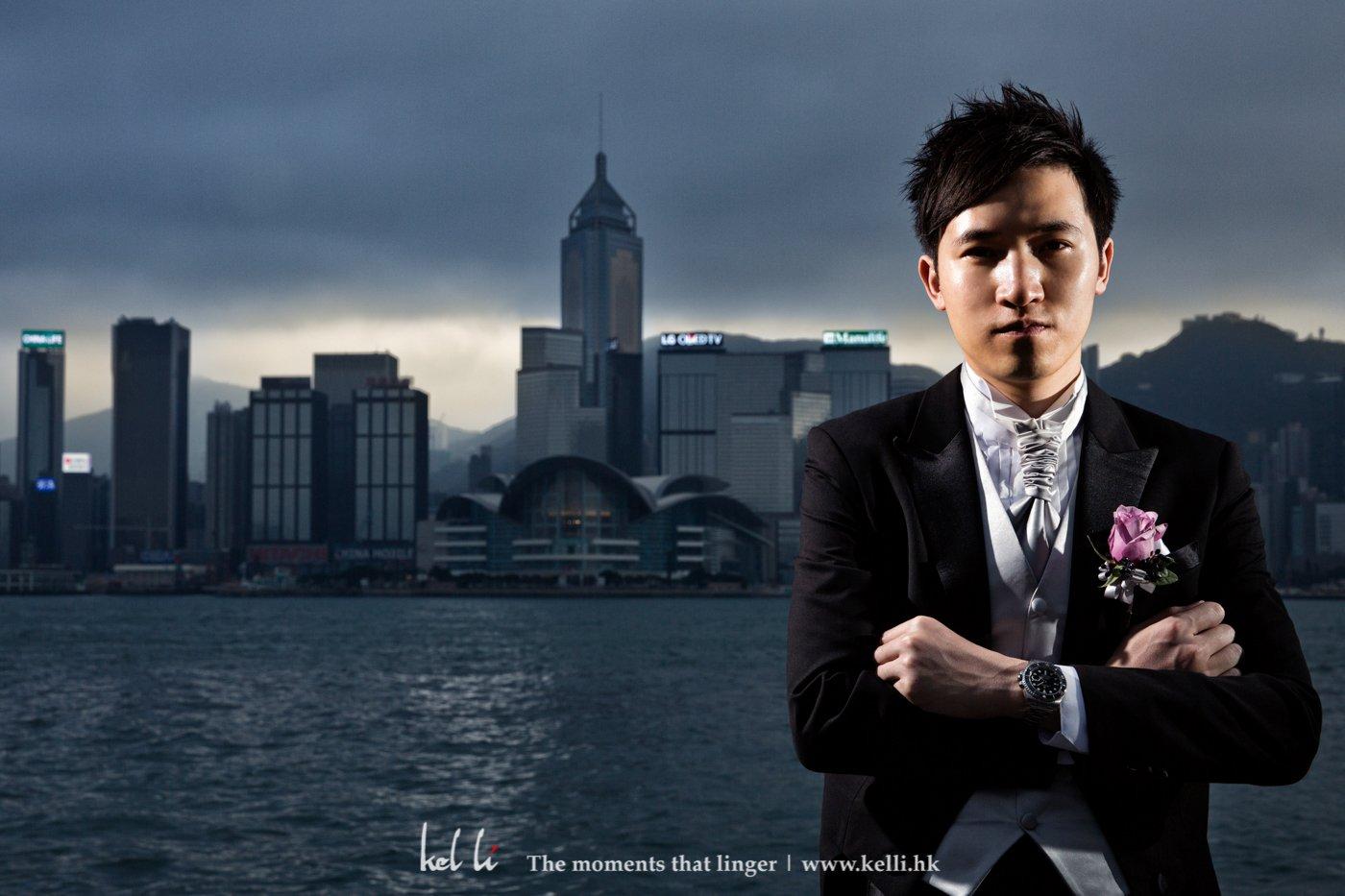 Kel Li Art Gallery - 當即場播放婚禮當天的相片時,來賓看到這張相片是都嘩了一聲,大概是新部嫡帥,哈
