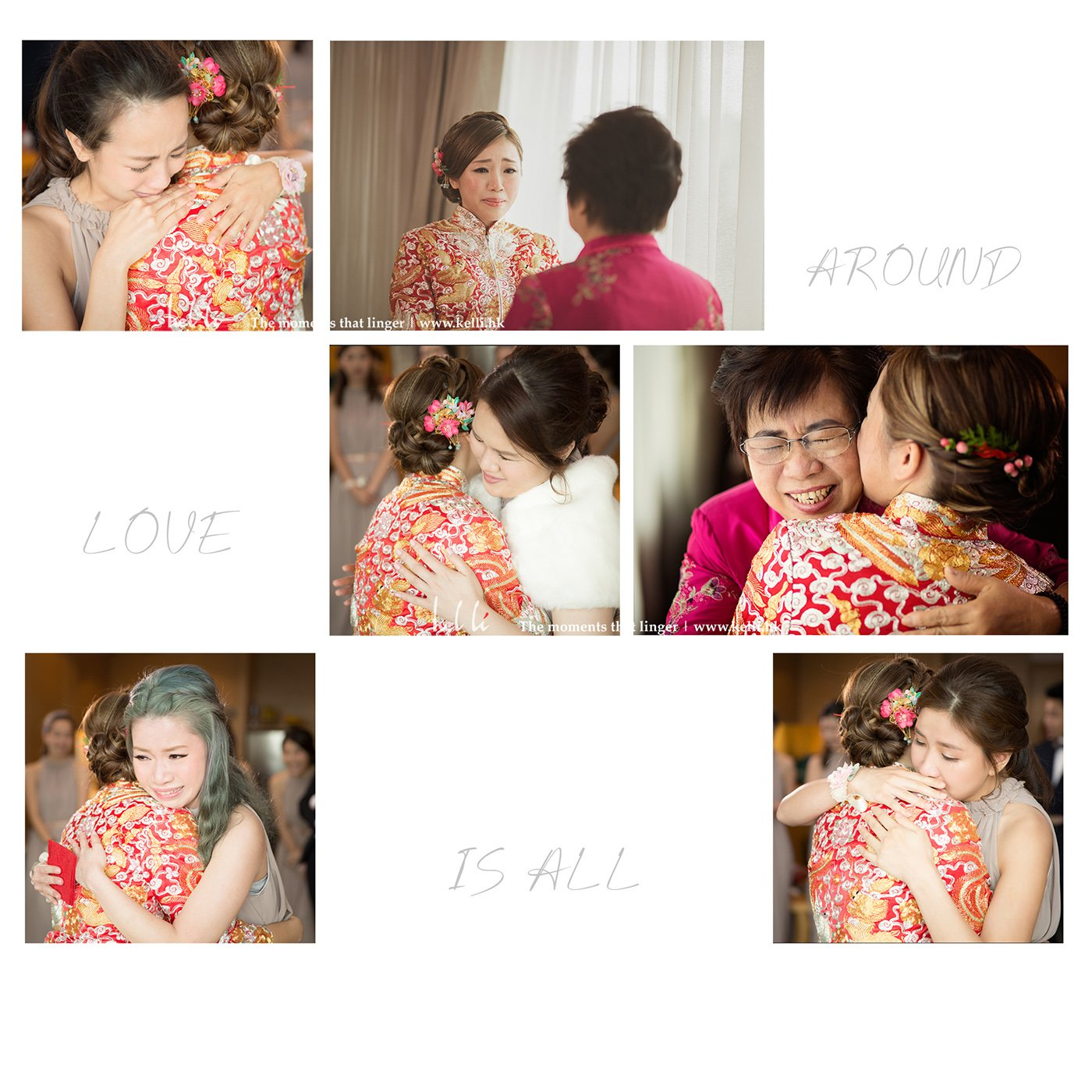 Kel Li Art Gallery - Love is all around - wedding day