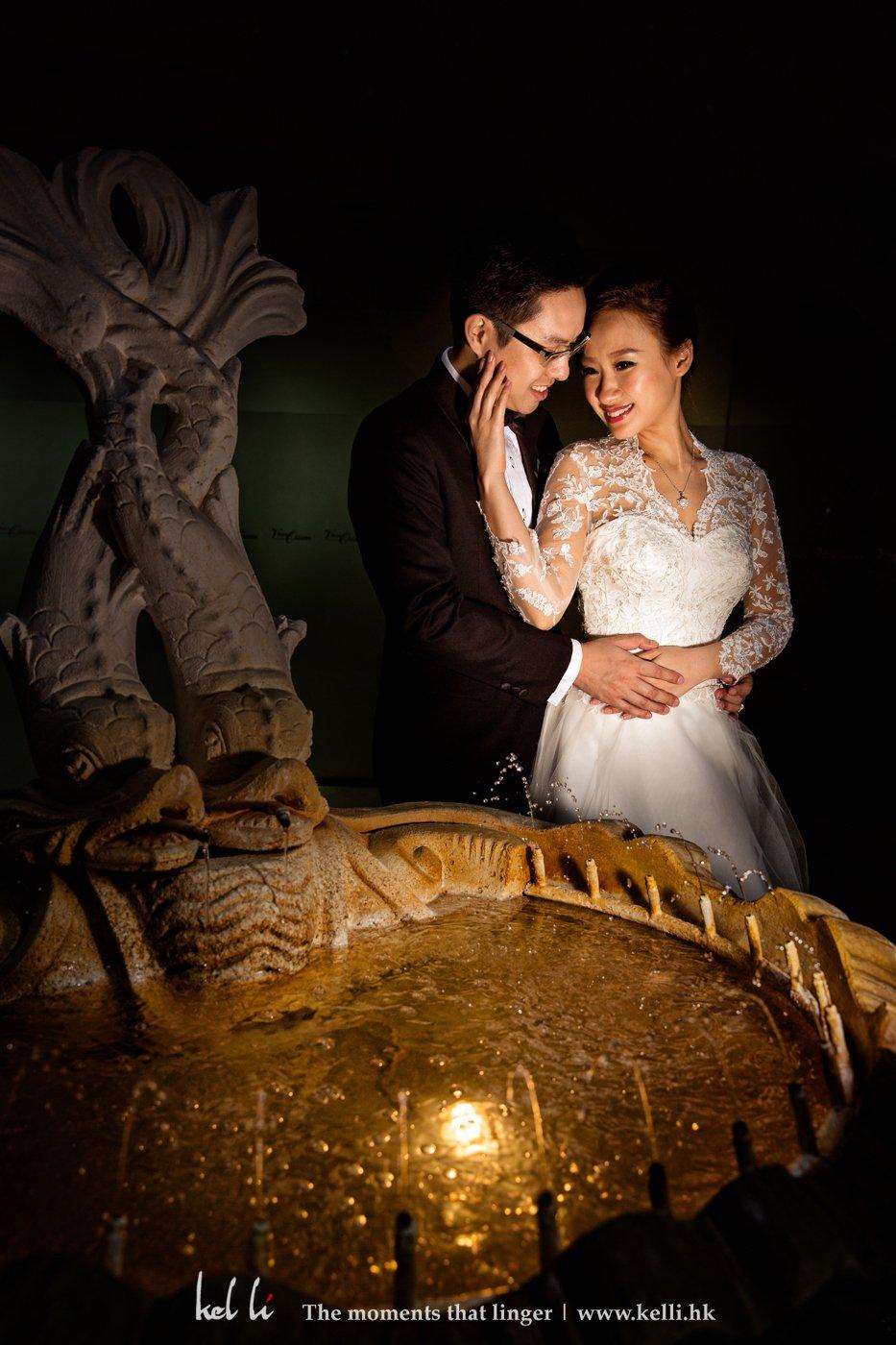 新人在婚禮當天的外影