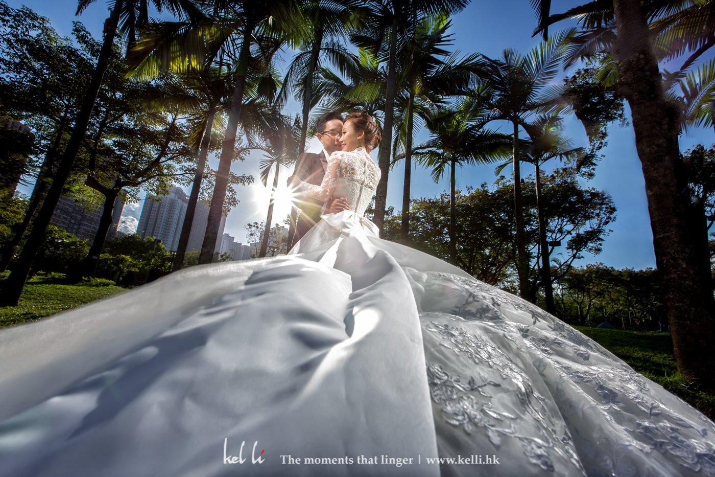 新郎與新娘婚禮外影的合照