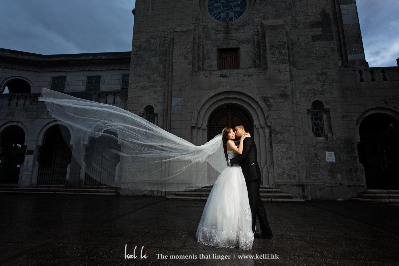 平時影主教山都係prewedding,婚禮拍攝還是第一次