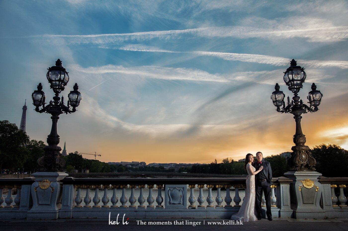 巴黎日落的美景