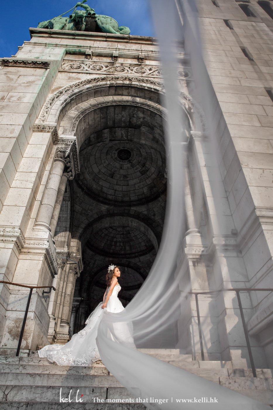 飄紗是一個很好的婚紗照的拍攝手法
