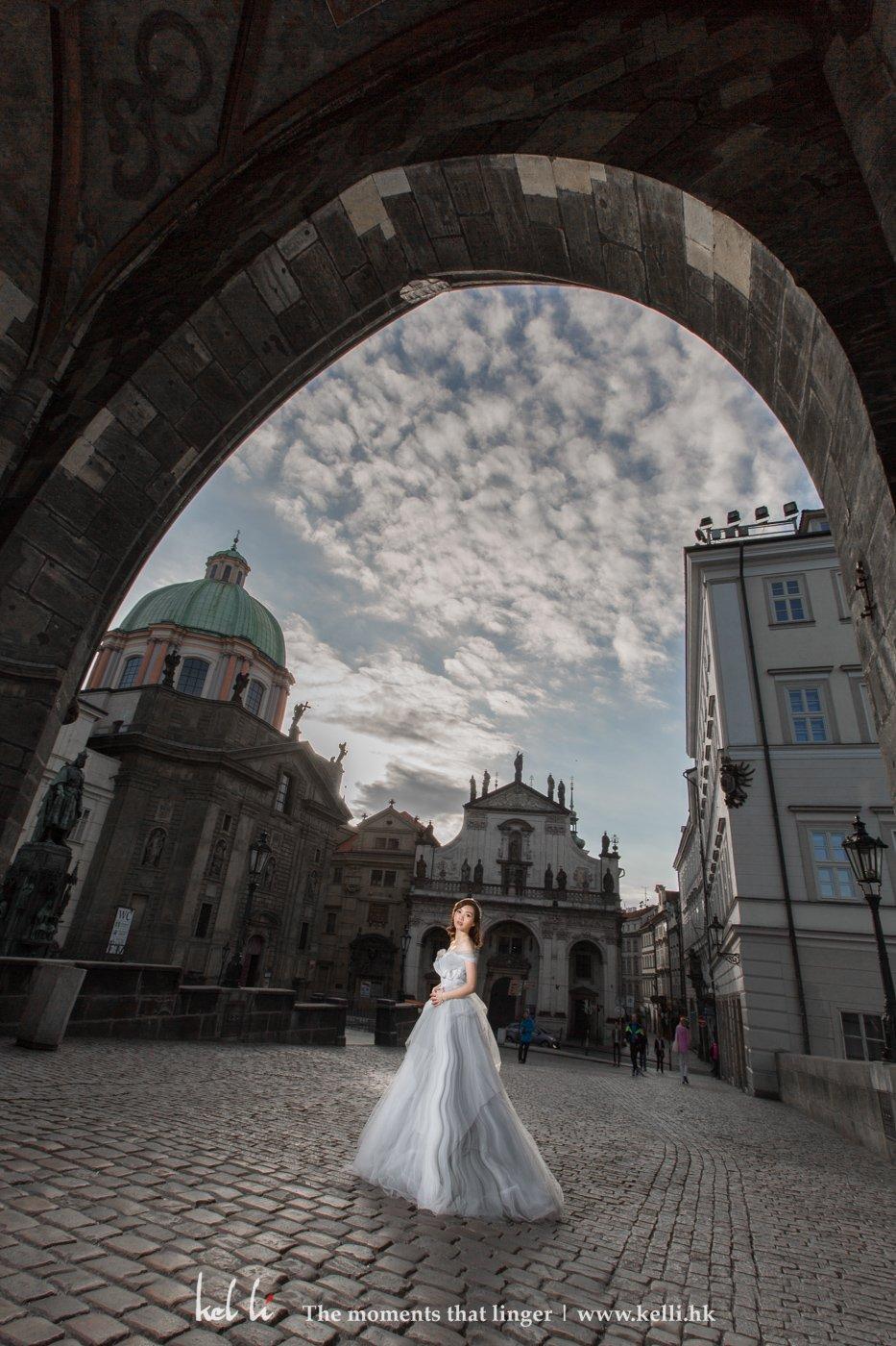 大橋的一張大景婚紗相