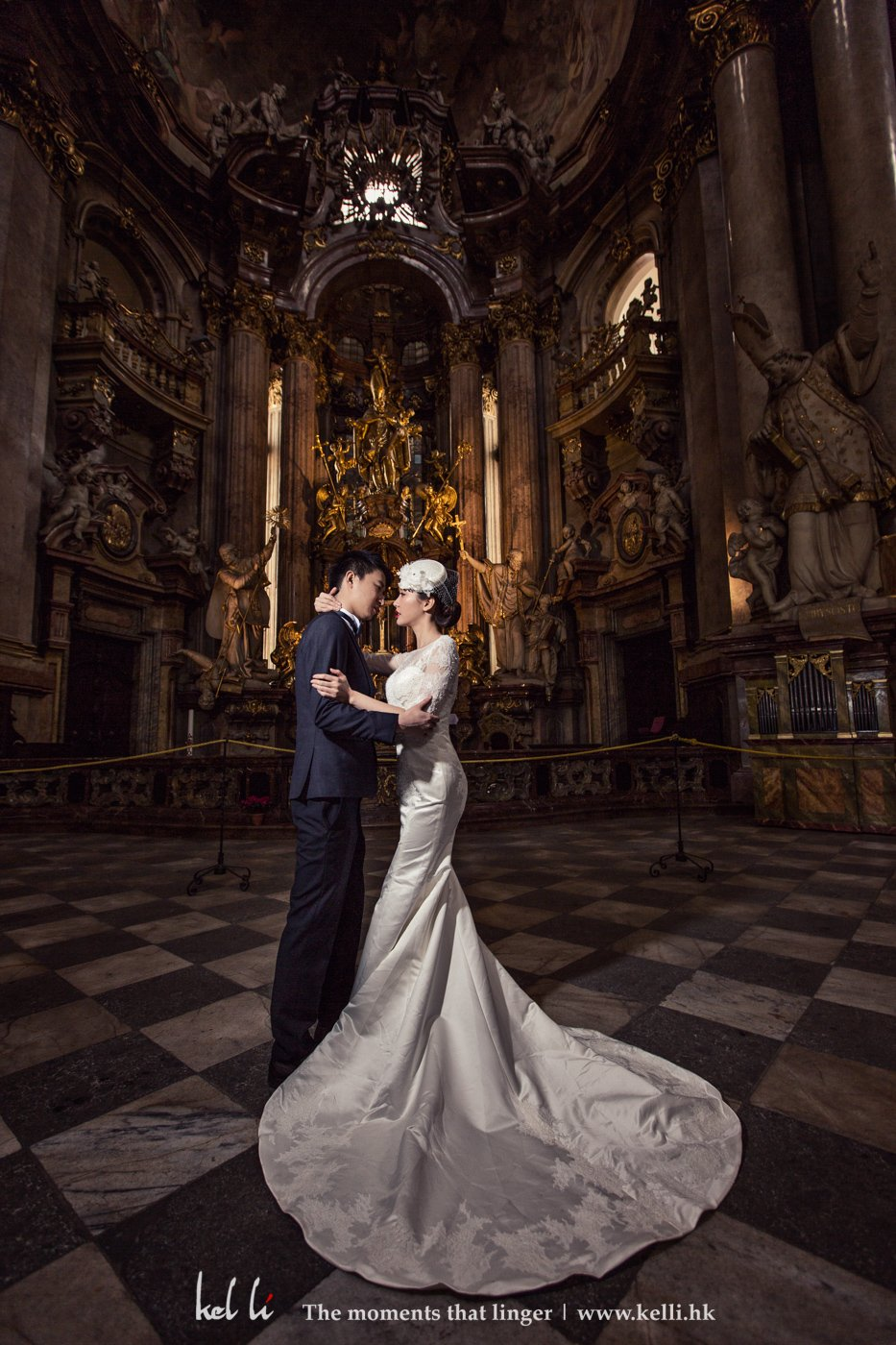 Pre-wedding in a historical church