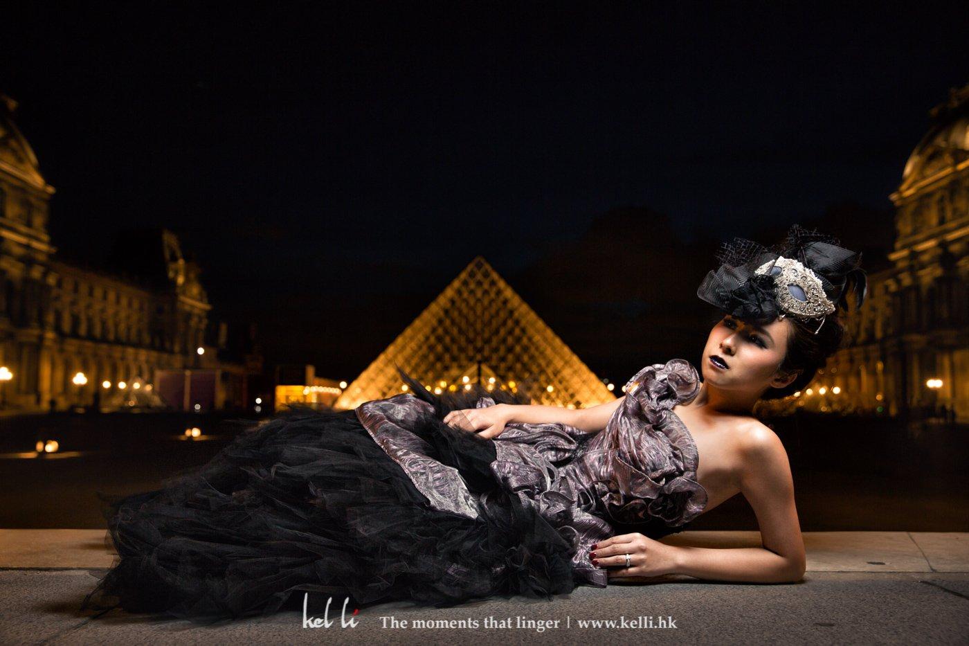 在海外婚紗拍攝,一天的造型可以是2-3個,,除了美美的造型,其實也可作不同的嘗試,令整輯相片更多元化