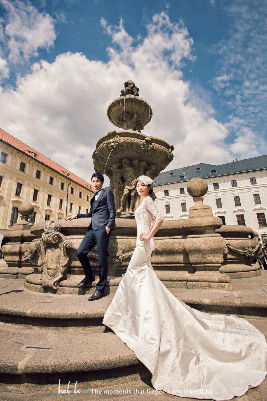 布拉格的婚紗攝影