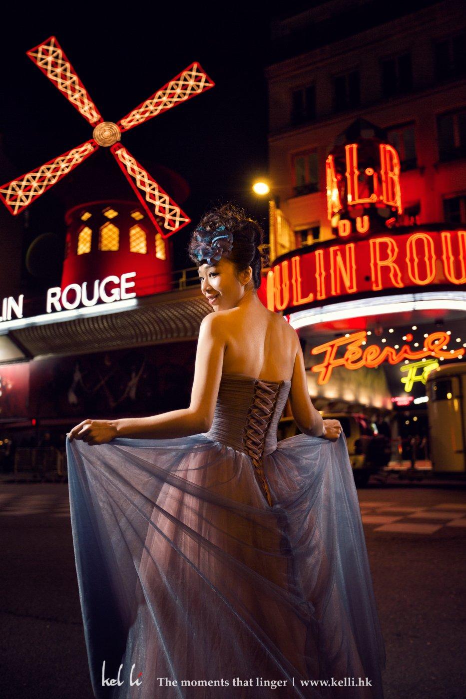 紅磨坊是屬於巴黎的紅燈區,也是著名的歌舞表演場地