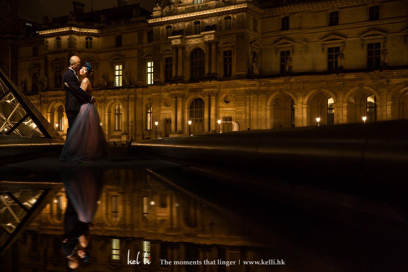 新人在羅浮宮的例影