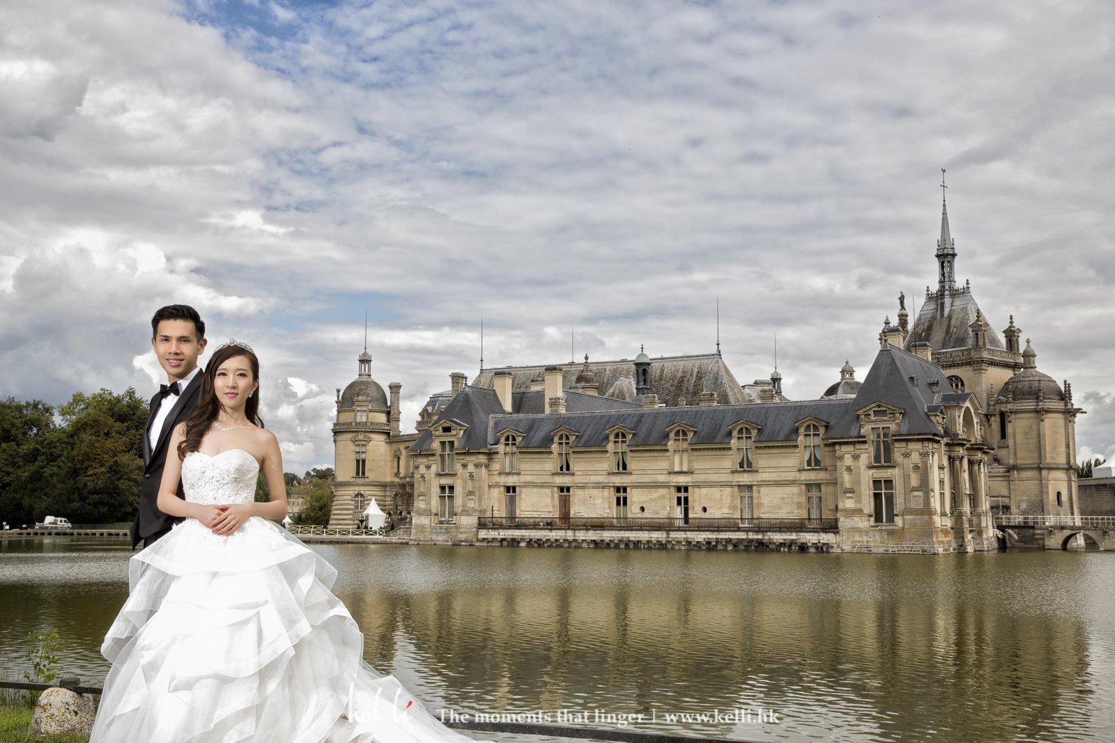Chateau de Chantilly 城堡雖然車程比較遠,但城堡的美景也很值得