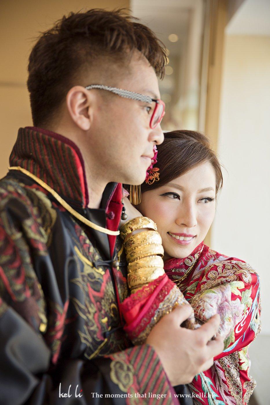 婚禮新娘與新郎合照