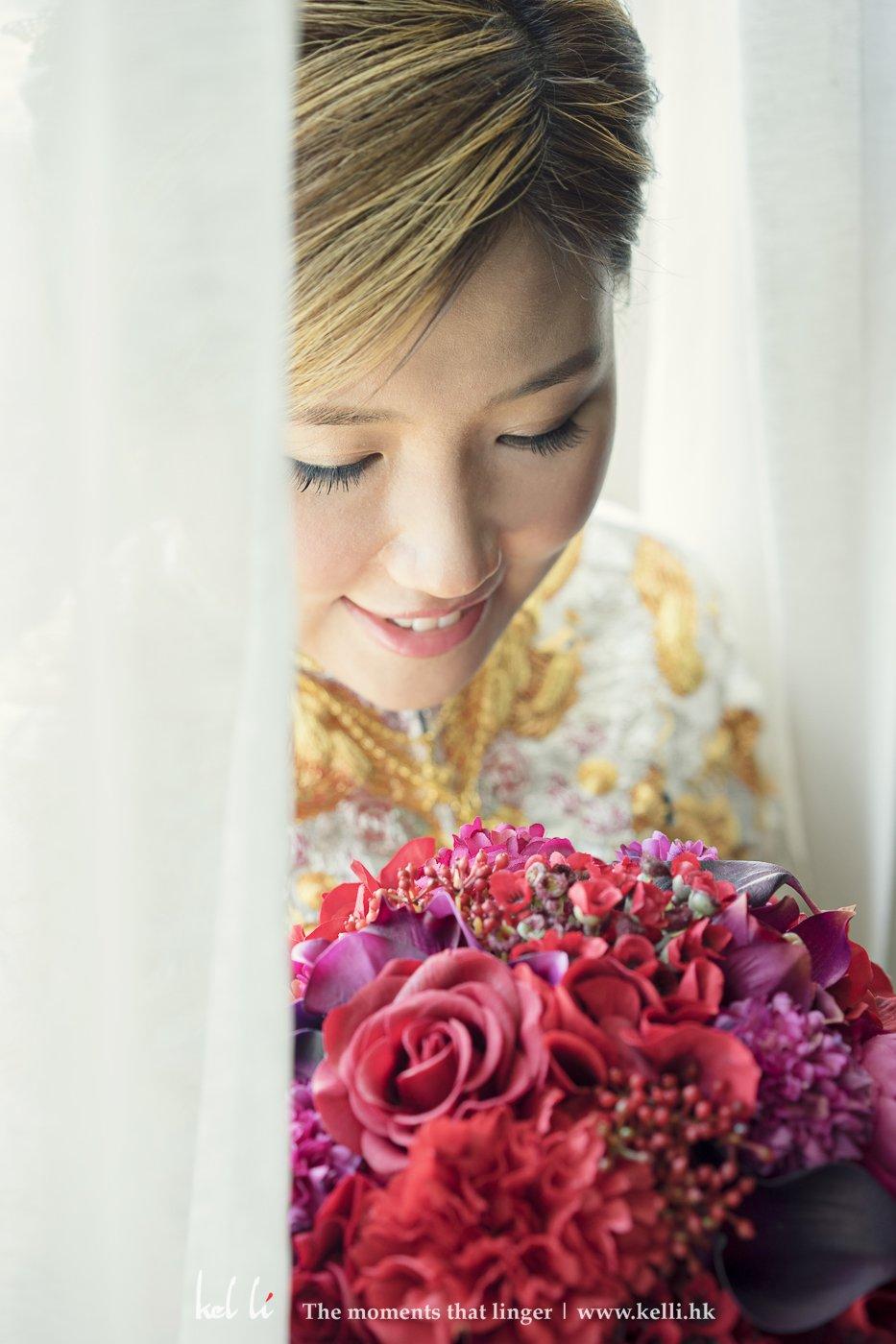 婚禮裡新娘的美媚