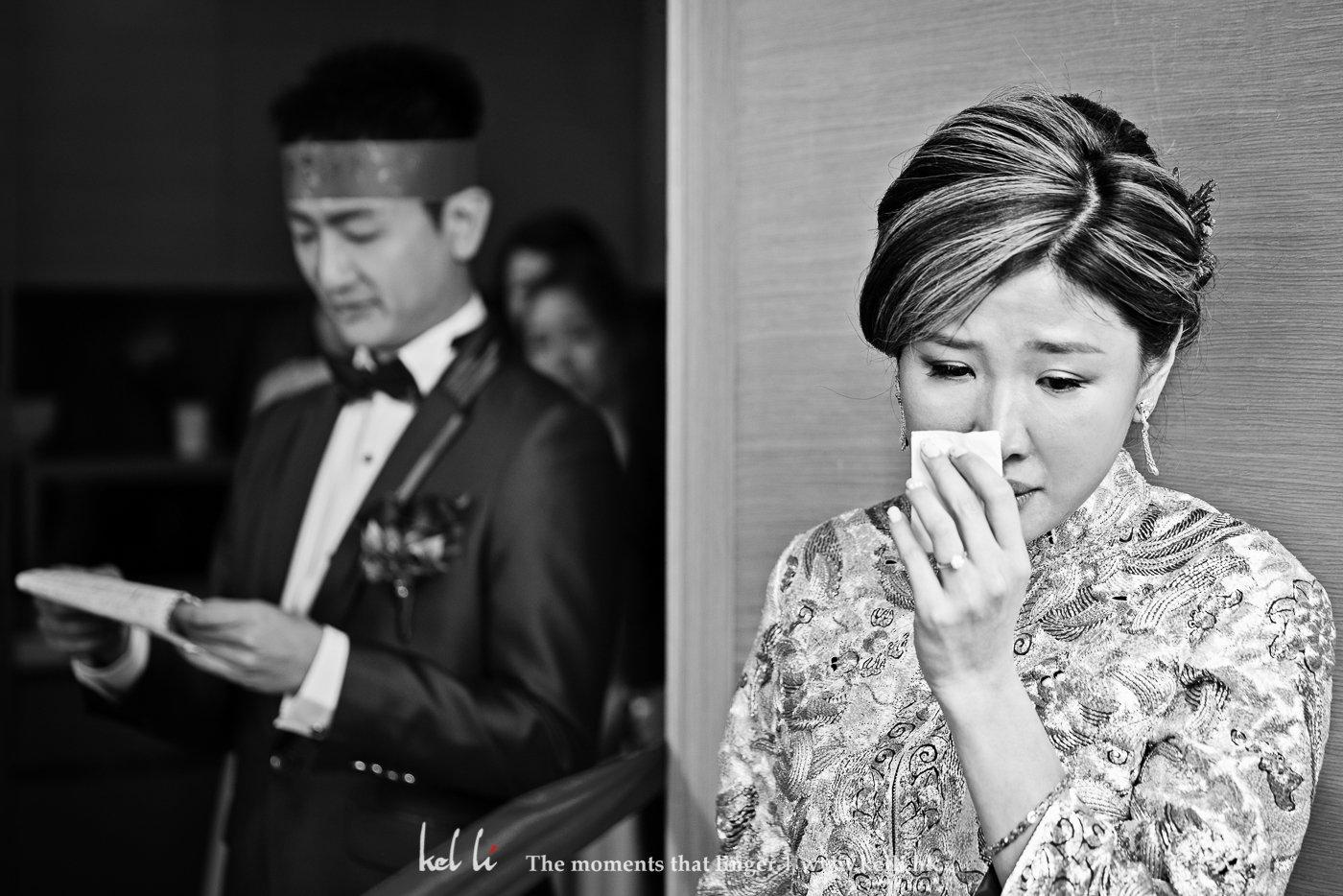 愛的宣言,新郎的情深說話打動了新娘