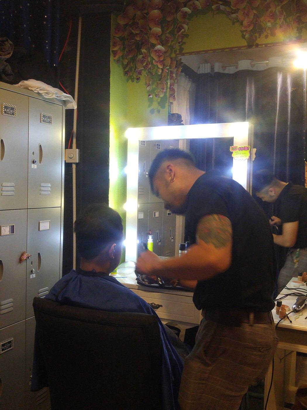 男仕化妝、造型、髮型設計
