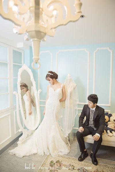 在新郎眼中著婚紗的新娘永遠世上最完美的女人