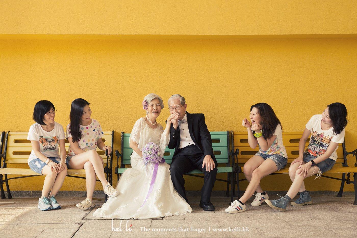 除了長者拍攝除了杜生杜太,難得三個女兒都可以投入拍攝