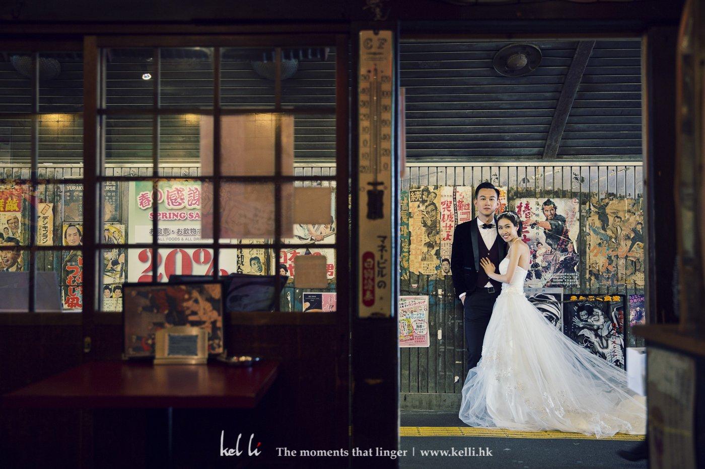 這個是一麵店的門口,食完午飯我們也順便拍了幾張婚紗照,東京的舊式居酒屋都係一個不錯的拍攝場地