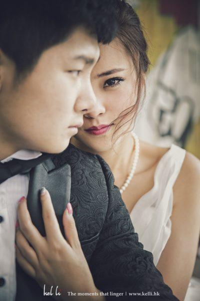 新娘攝人眼神令人差一點忘記現在係影婚紗相^^