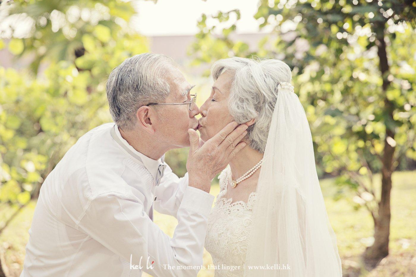 到年老還一樣能互相親吻,這是幸福的
