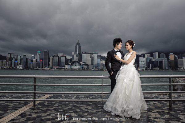 香港特色不能決少的維港, 係不少婚紗攝影的場景