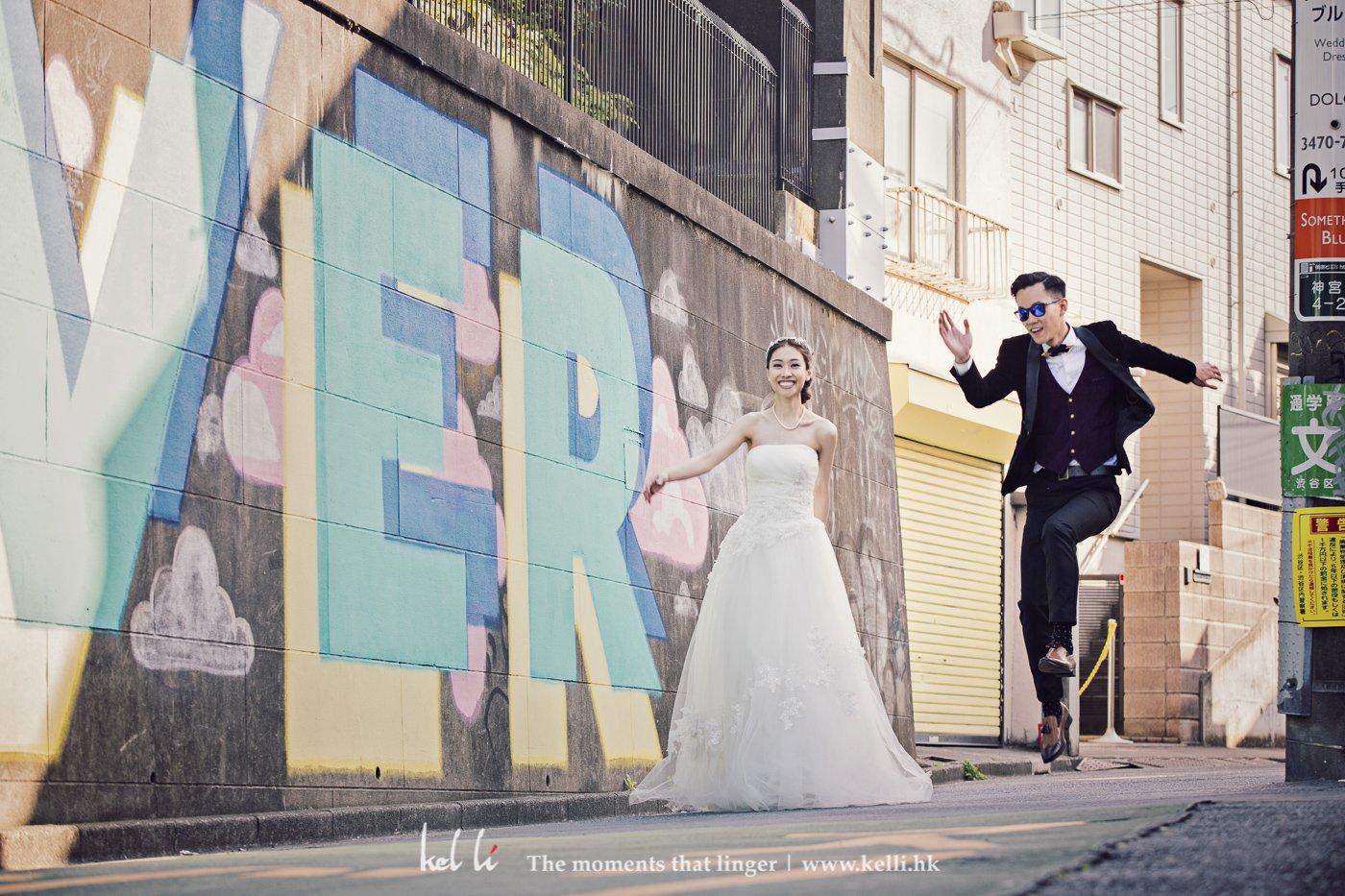除了型格,我們也很喜歡新人動態自然的一面,這樣的婚紗照才多元化