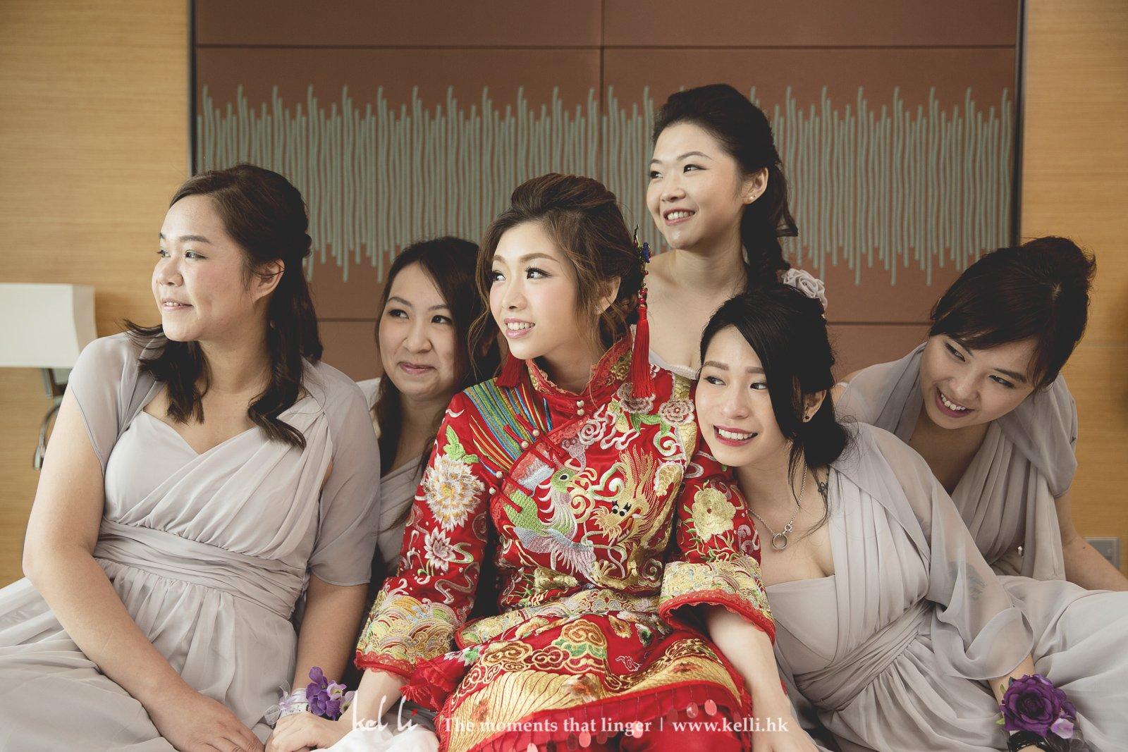 婚禮當然不可缺少姐妹合照