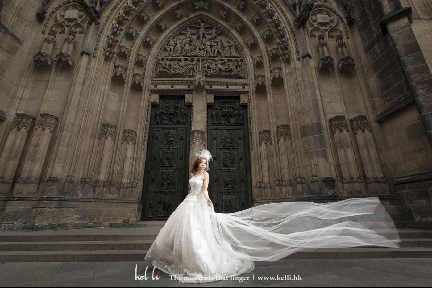 新娘单人的飞纱照