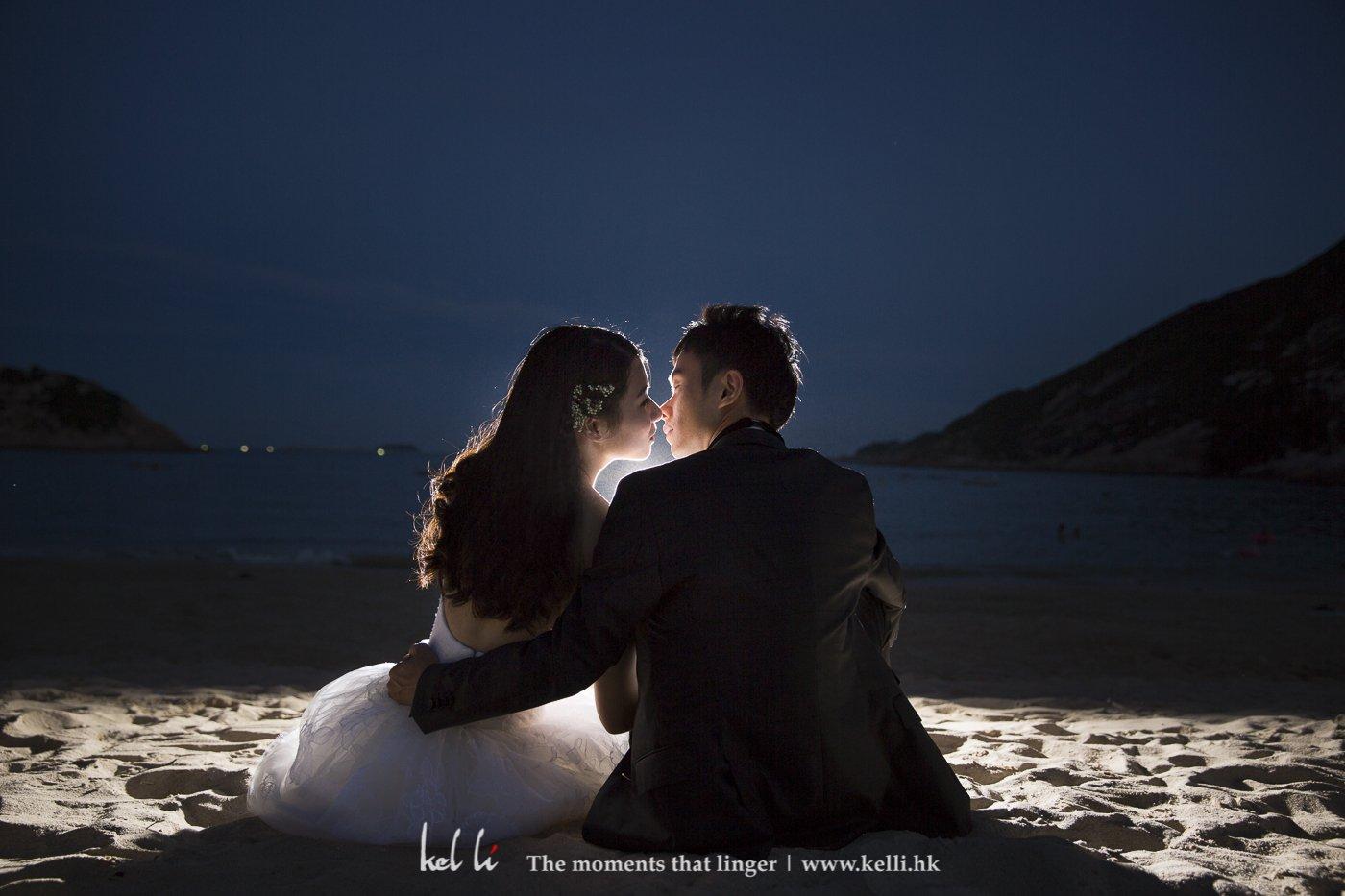 香港沙灘拍攝婚紗照