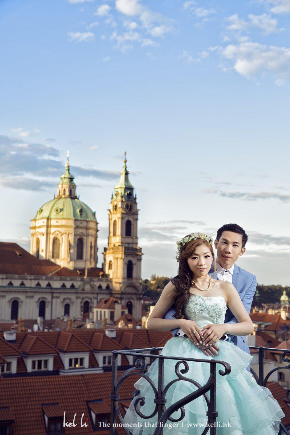 日落布拉格婚纱合照