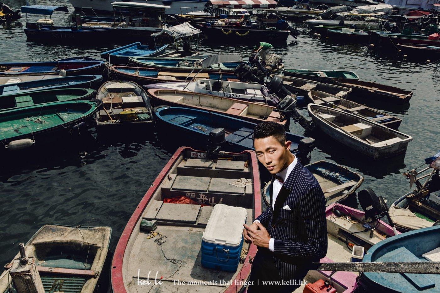 這種小漁船很具香港特色